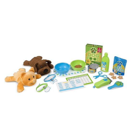 Feeding & Grooming Pet Care Play Set Melissa & Doug®