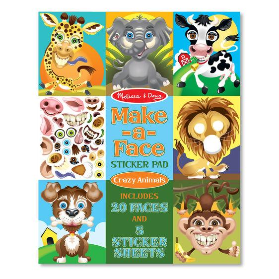 Make-a-Face Crazy Animals Sticker Pad Melissa & Doug®