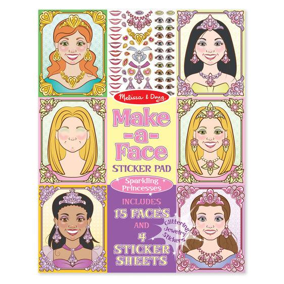 Make-a-Face Sticker Pad: Sparkling Princess Melissa & Doug®