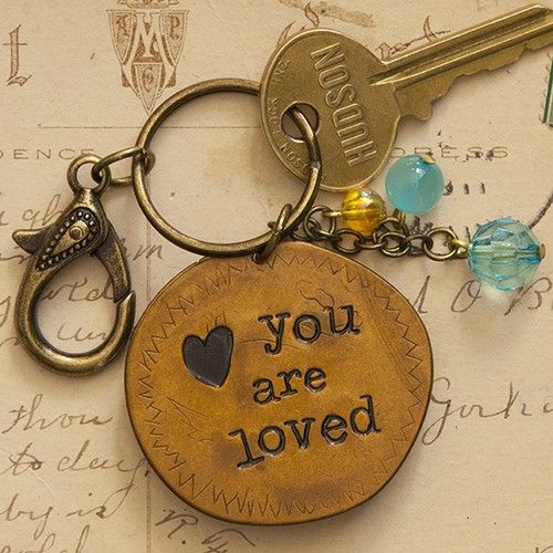 you are loved keychain