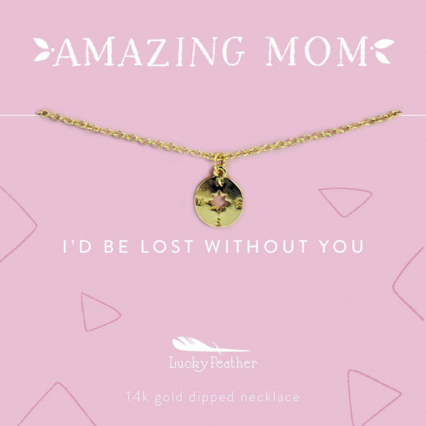 Amazing mom necklace COMPASS
