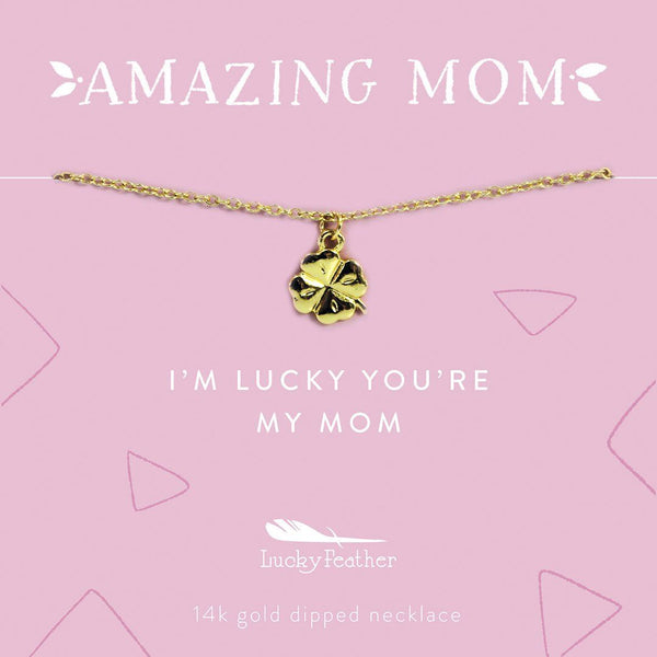 Amazing Mom Necklace LUCKY