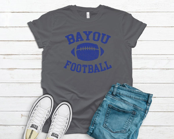 bayou football vintage tee
