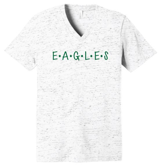 EAGLES Dot V-Neck Tee
