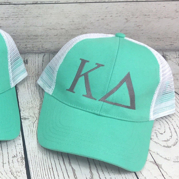 kappa delta mint trucker hat