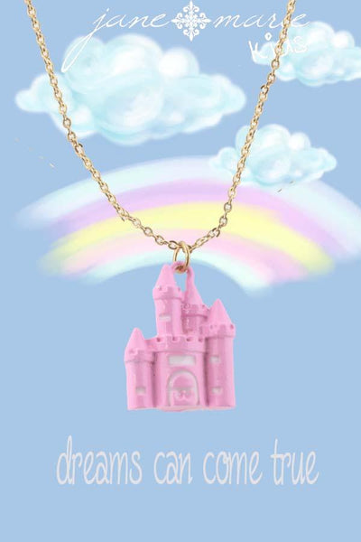 Dreams Come True Castle Necklace