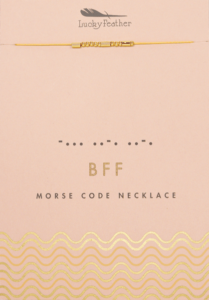 Morse Code Necklace BFF