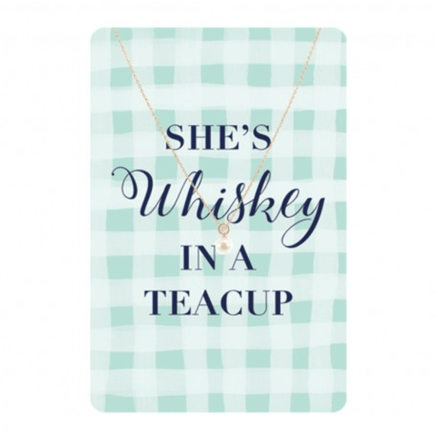 Whiskey in a Teacup Necklace