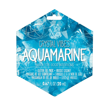 Crystal Vibes Aquamarine Facemask