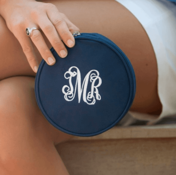 navy jewelry case