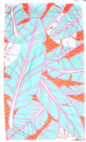 Island Palm Microfiber beach Towel