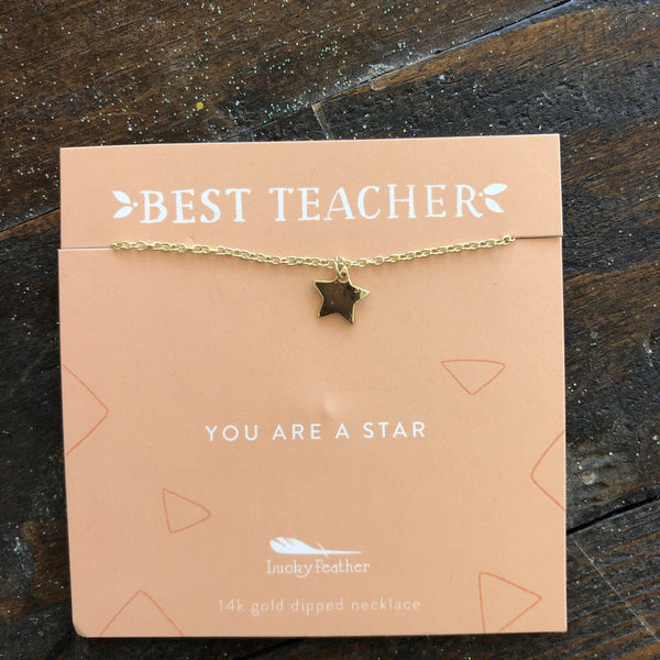 BEST TEACHER STAR NECKLACE