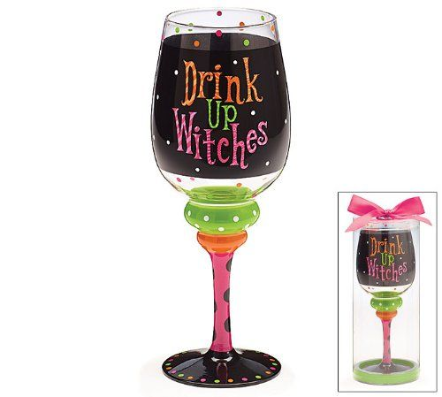 drink up witches wine glass
