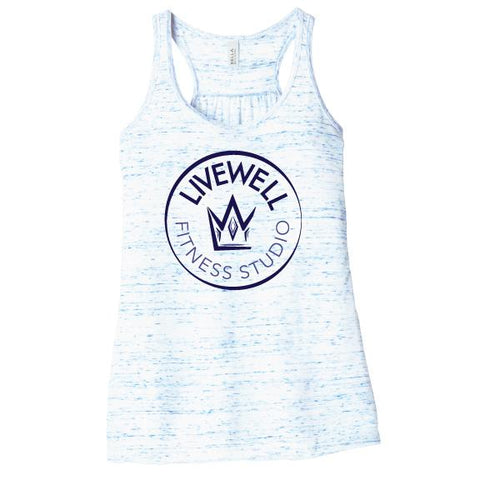 Livewell Fitness Flowy Tank Circle Logo