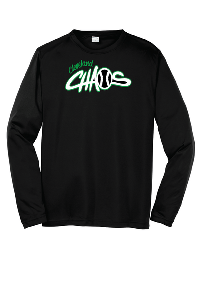 black long sleeve dry fit cleveland chaos
