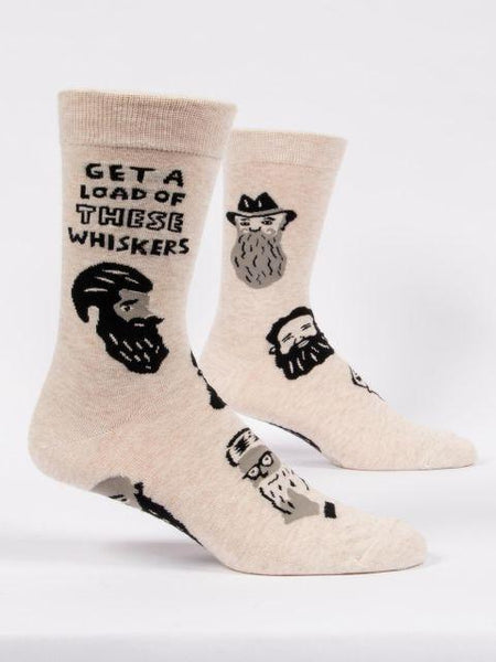 Get A Load of These Whiskers Crew Socks Men