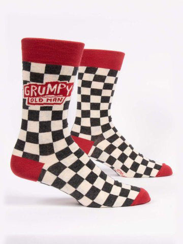 Grumpy Old Man Crew Socks Mens
