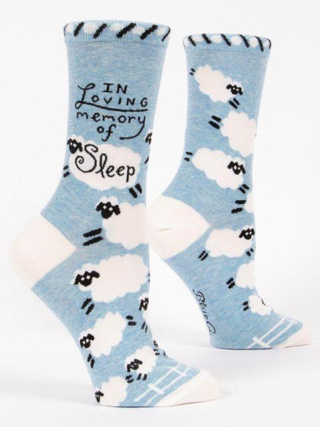 In Loving Memory of Sleep Crew Socks Women