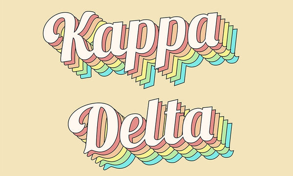 kappa delta retro flag