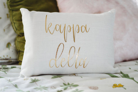 Kappa Delta Gold Pillow