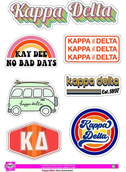KD Retro Sticker Sheet