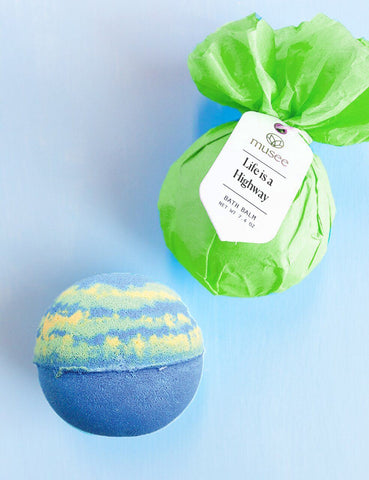 life is a highway bathbomb