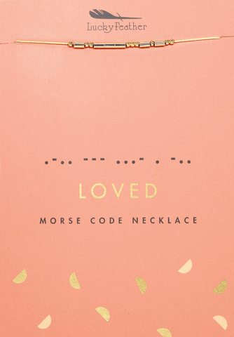 Morse Code Necklace Loved