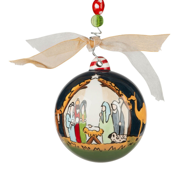 nativity at night ornament