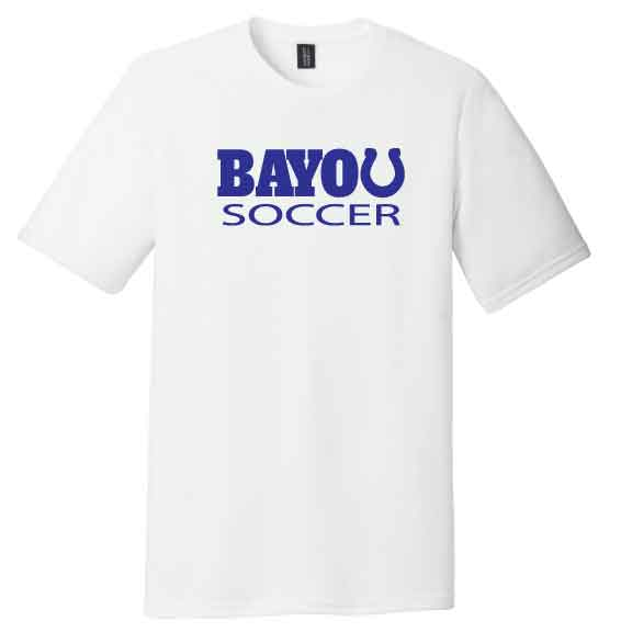 SOFTSTYLE WHITE Bayou Athletics Tee **PICK YOUR SPORT**