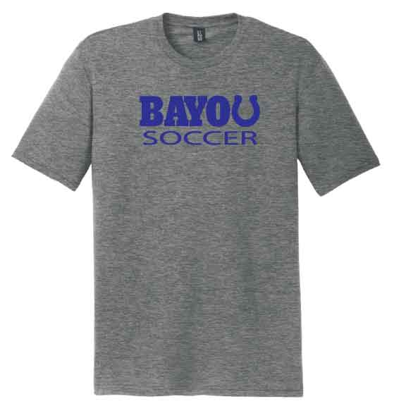 SOFTSTYLE GREY Bayou Athletics Tee **PICK YOUR SPORT**