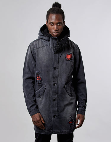 ALLDD FLANNELED DENIM PARKA