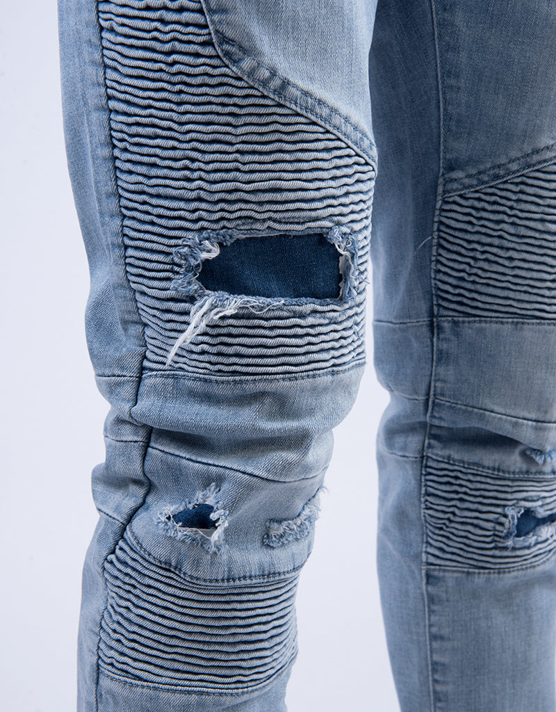 ALLDD BROKEN BIKER IAN DENIM  PANTS