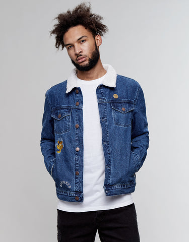 ALLDD NOT HAPPY GARFIELD TRUCKER JACKET