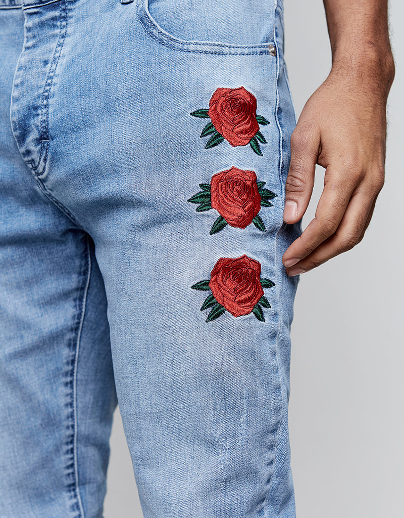 ALLDD IN BLOOM IAN DENIM PANTS