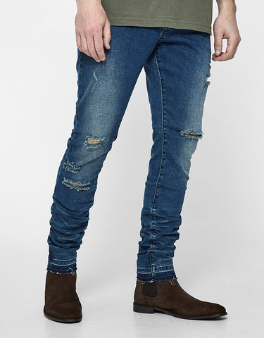 ALLDD STACKED IAN DENIM PANTS