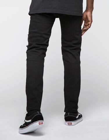 ALLDD INVERTED BIKER IAN DENIM PANTS
