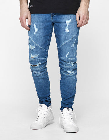 ALLDD PANELED IAN DENIM PANTS