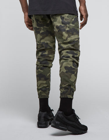 ALLDD PANELED INVERTED BIKER JOGGER PANTS
