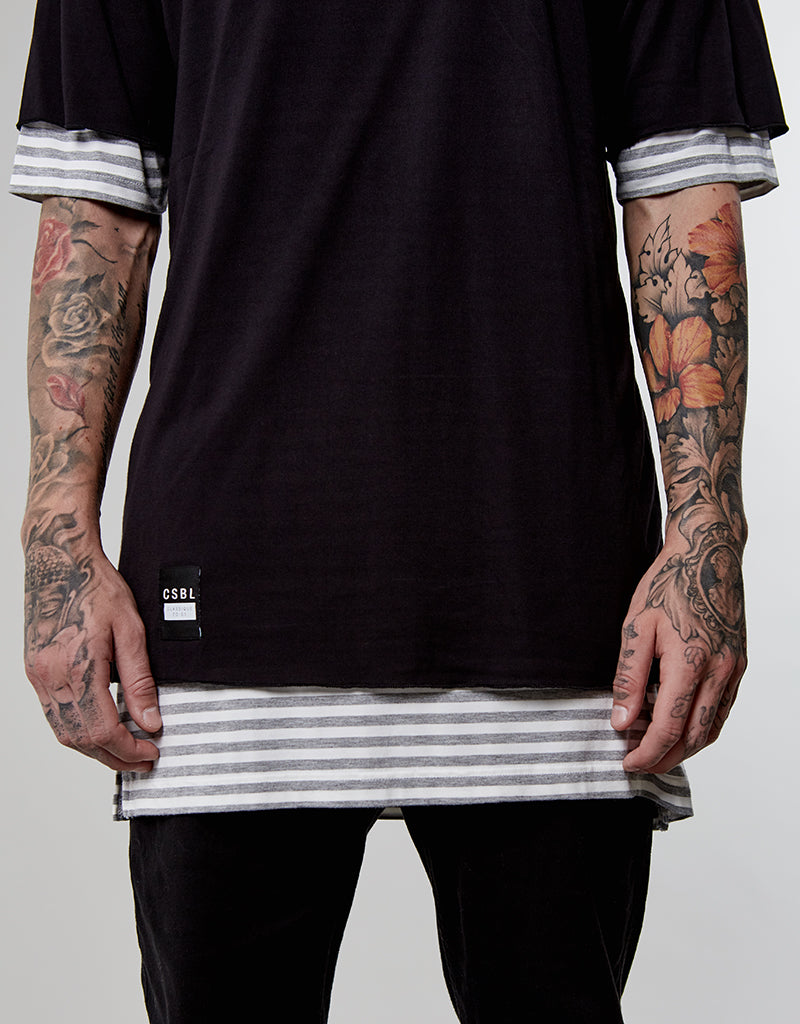 0085||CSBL DEUCES LONG LAYER TEE