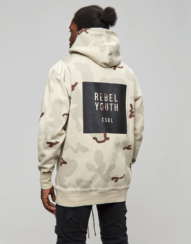 CSBL REBEL YOUTH HALF ZIP HOODY