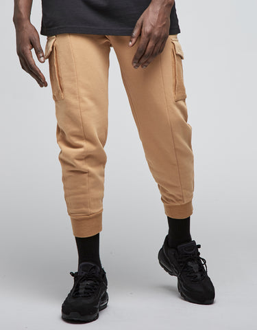 CSBL TWO FACE CROPPED CARGO SWEATPANTS