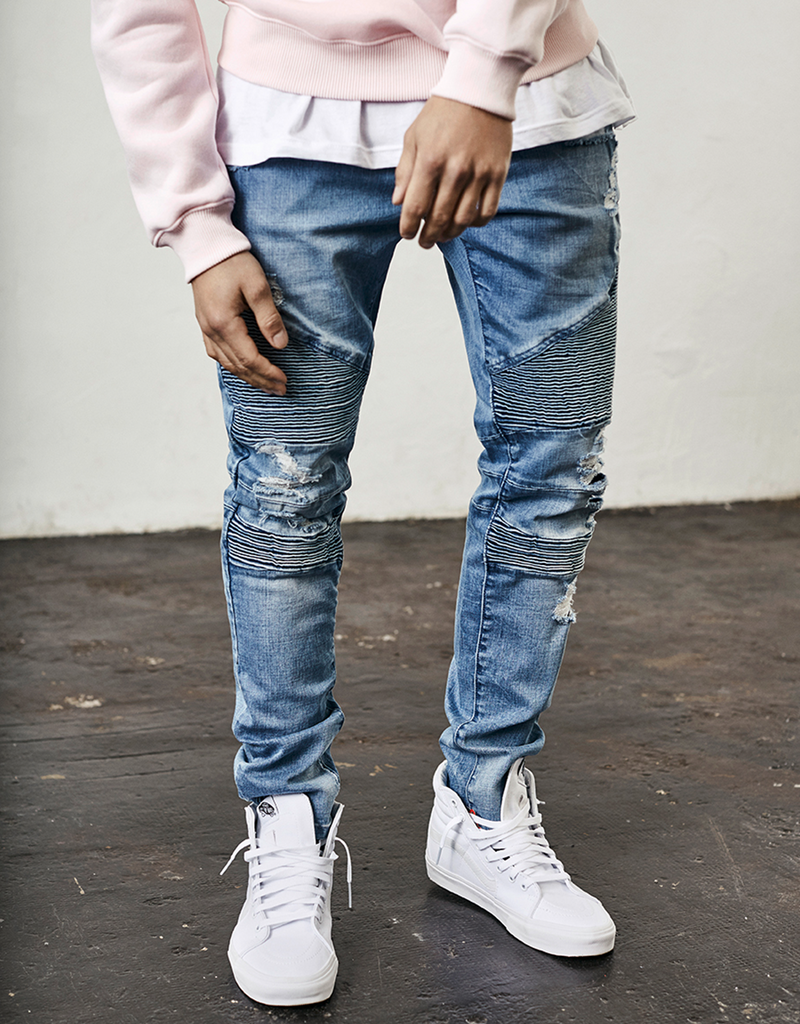 C&S BIKER DENIM PANTS
