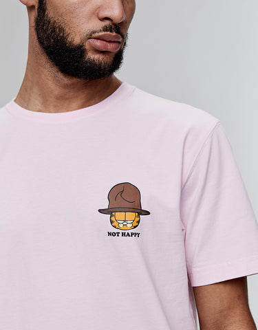 C&S WL NOT HAPPY GARFIELD TEE