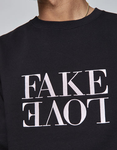 C&S WL FAKE LOVE CREWNECK