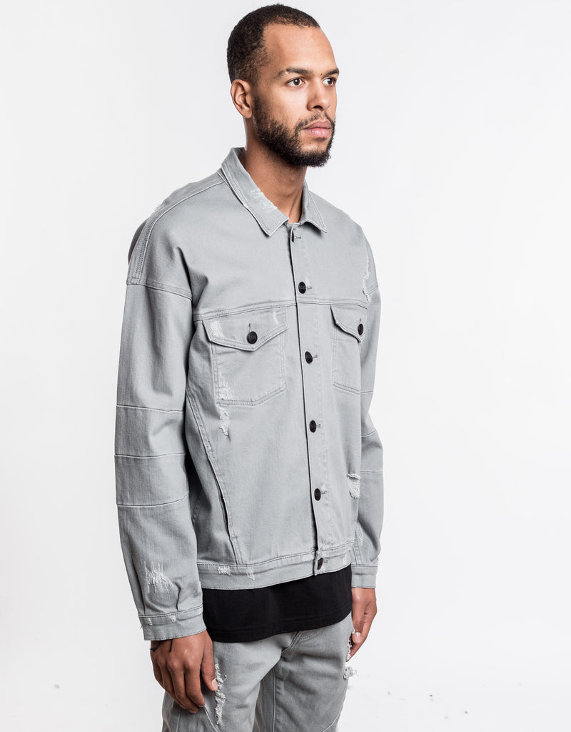 C&S DROP SHOULDER DENIM JACKET