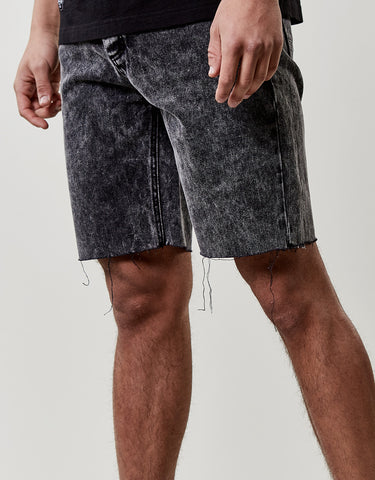 C&S ALLDD RAW EDGE DENIM SHORTS