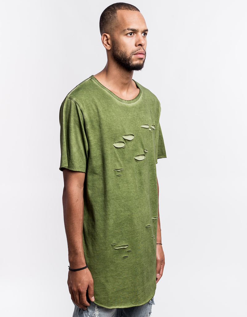 C&S BL RIPPED SCALLOP TEE