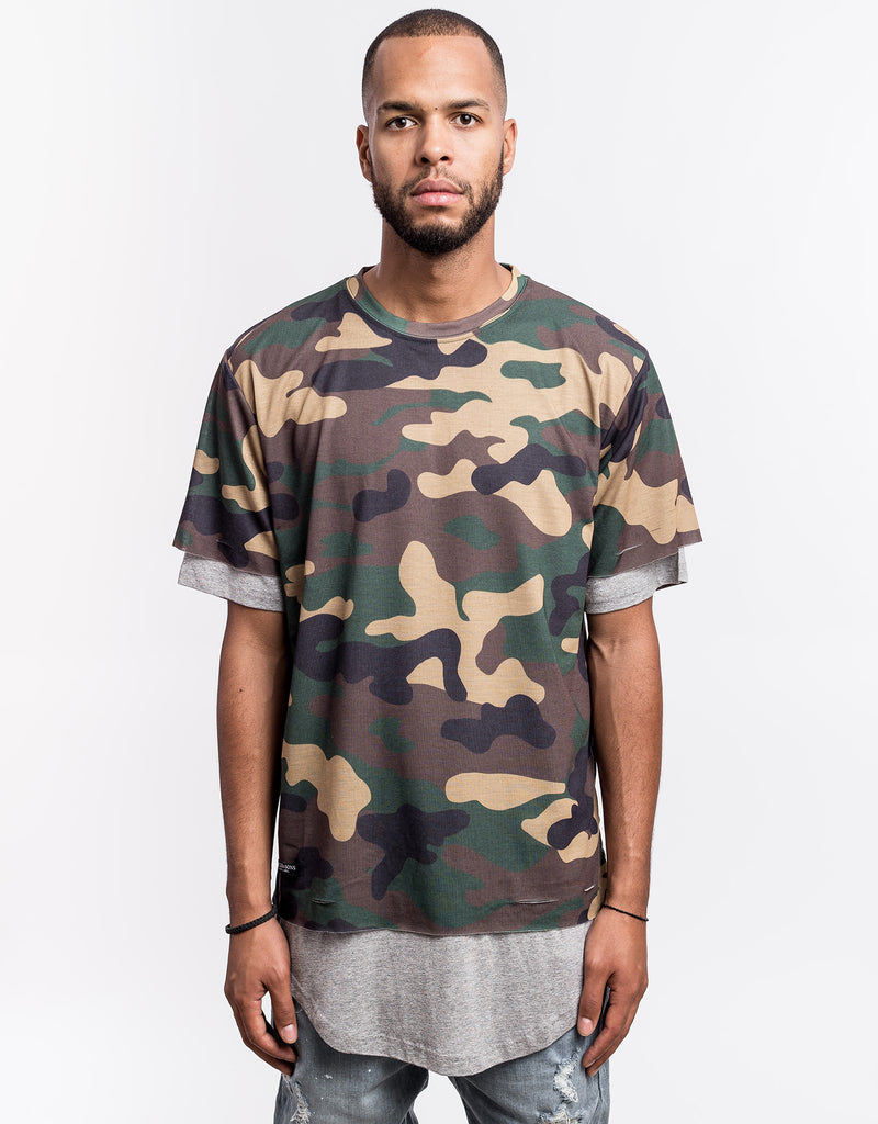 C&S BL DEUCES LONG LAYER TEE