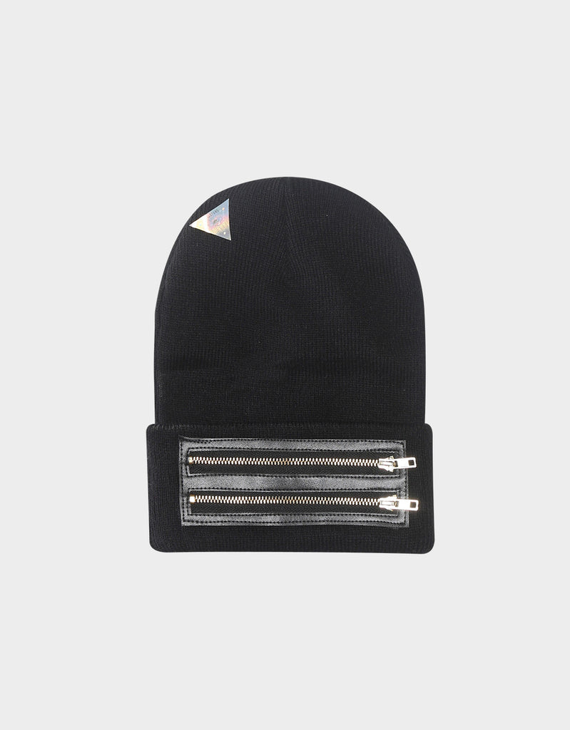 C&S BL ZIPPED OLD SCHOOL BEANIE