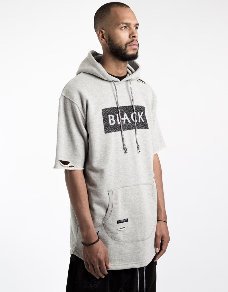 C&S BL PRESIDENTIAL DISTRESSED CUT OFF HOODY